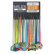 Running Large Hooked on Medals and Bib Hanger - Miles and Miles of Memories