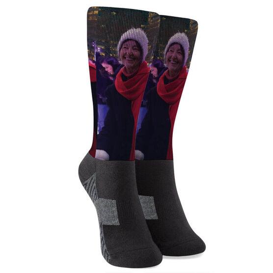Printed Mid-Calf Socks - Custom Photo