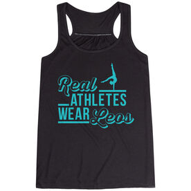 Gymnastics Flowy Racerback Tank Top - Real Athletes Wear Leos
