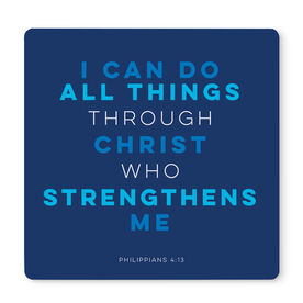 """Running 12"""" X 12"""" Removable Wall Tile - I Can Do All Things Through Christ"""