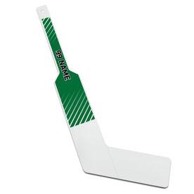 Personalized Knee Hockey Goalie Stick Stripes Pattern