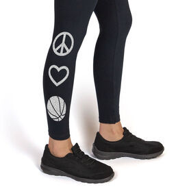Basketball Leggings Peace Love Basketball