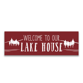 "12.5"" X 4"" Removable Wall Tile - Welcome To Our Lake House"