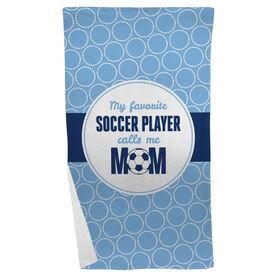 Soccer Beach Towel My Favorite Player