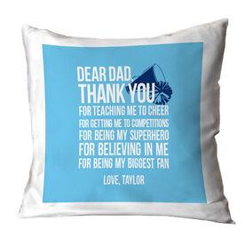 Cheer Throw Pillow Dear Dad