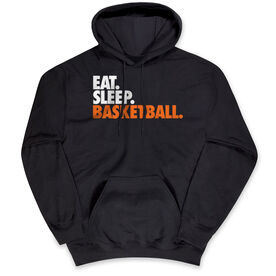 Basketball Hooded Sweatshirt - Eat. Sleep. Basketball.