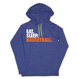 Women's Basketball Lightweight Hoodie - Eat Sleep Basketball