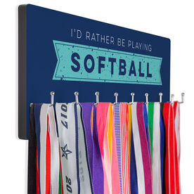 Softball Hook Board Softball I'd Rather Be Playing Softball