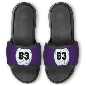 Volleyball Repwell™ Slide Sandals - Volleyball with Number