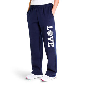 Volleyball Fleece Sweatpants - Volleyball Love