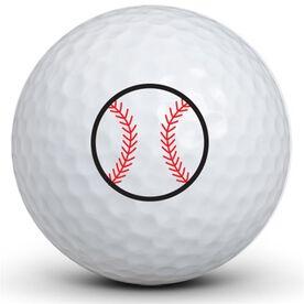 Baseball Logo Golf Balls