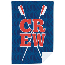 Crew Premium Blanket - Crew Stacked with Crossed Oars