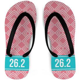 Running Flip Flops Diamond Pattern With Ribbon 26.2