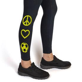 Soccer Leggings Peace Love Soccer