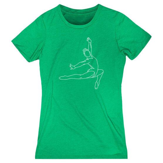 Gymnastics Women's Everyday Tee - Gymnast Sketch