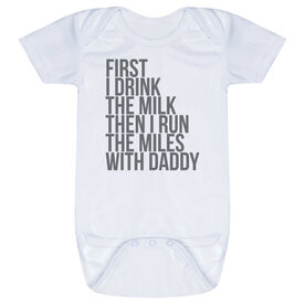 Running Baby One-Piece - Then I Run The Miles With Daddy