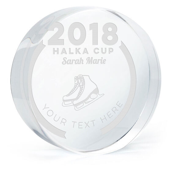 Figure Skating Personalized Engraved Crystal Gift - Custom Team Award