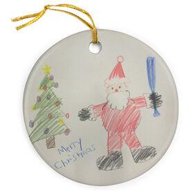 Baseball Porcelain Ornament Your Artwork