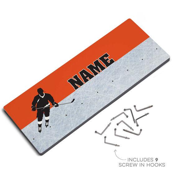 Hockey Multi-Hook Medal/Hat Display Personalized Hockey Player
