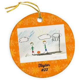 Basketball Porcelain Ornament Your Drawing With Personalization