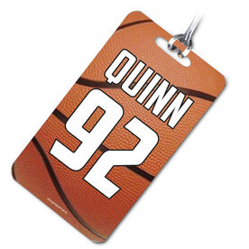 Basketball Bag/Luggage Tag Personalized Basketball Texture Name and Number