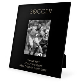 Soccer Engraved Picture Frame - Word