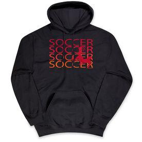 Soccer Hooded Sweatshirt - Soccer Fade