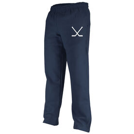 Hockey Sticks Silhouette Fleece Sweatpants