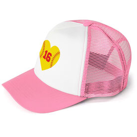 Softball Trucker Hat Heart with Number