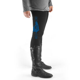 Fly Fishing High Print Leggings Eat Sleep Fish