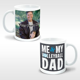 Volleyball Coffee Mug Me & My Dad Custom Photo