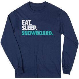 Skiing & Snowboarding T-Shirt Long Sleeve Eat. Sleep. Snowboard.