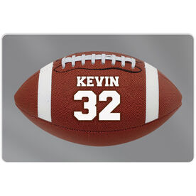 "Football Aluminum Room Sign (18""x12"") Personalized Football Photo"