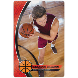 "Basketball 18"" X 12"" Aluminum Room Sign - Player Photo"