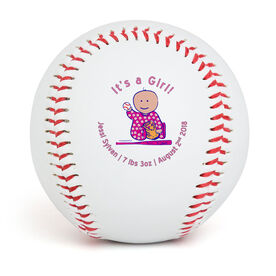 IT'S A GIRL! Custom Baseball