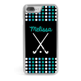 Field Hockey iPhone® Case - Personalized Sticks with Dots