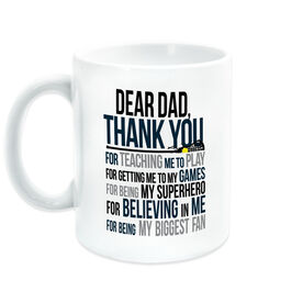 Girls Lacrosse Coffee Mug - Dear Dad