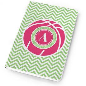 Basketball Notebook Single Letter Monogram