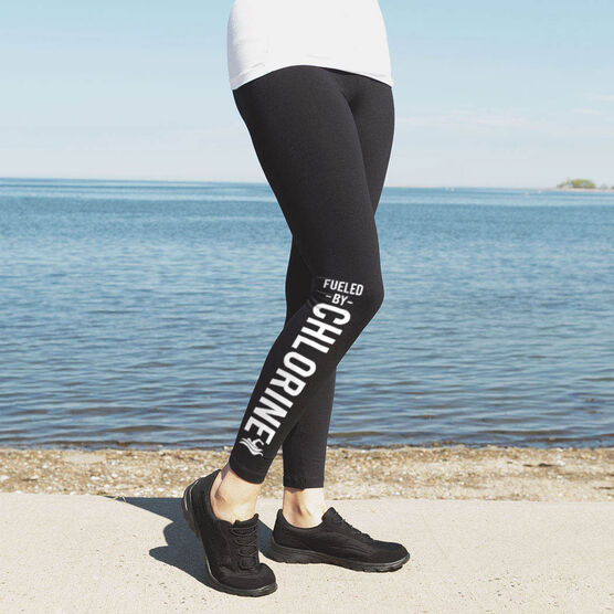 Swimming Leggings - Fueled By Chlorine