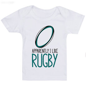 Rugby Baby T-Shirt - Apparently, I Like Rugby