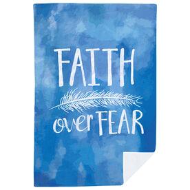 Premium Blanket - Faith Over Fear