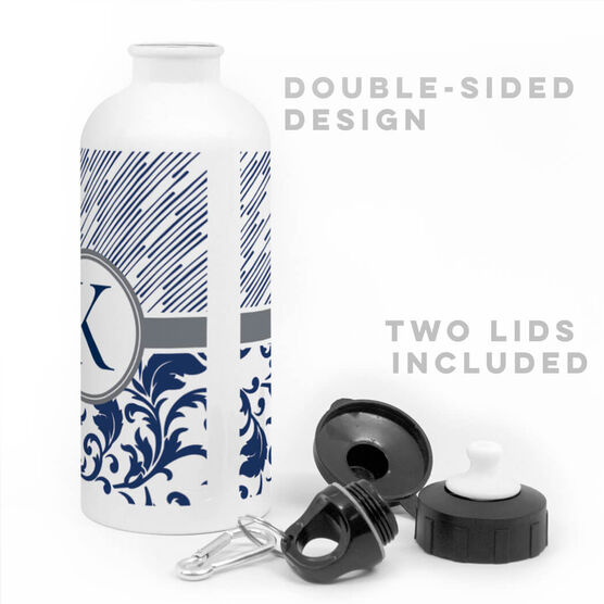 Personalized 20 oz. Stainless Steel Water Bottle - Elegant Monogram