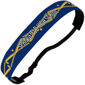 Field Hockey Julibands No-Slip Headbands - Personalized Crossed Sticks Stripe Pattern