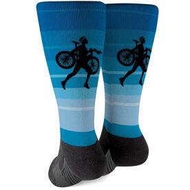 Triathlon Printed Mid-Calf Socks - Male Triathlete