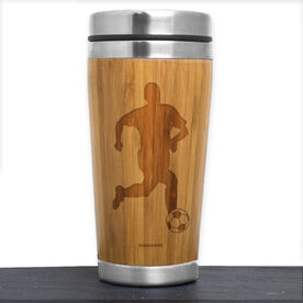 Bamboo Travel Tumbler Soccer Male Player