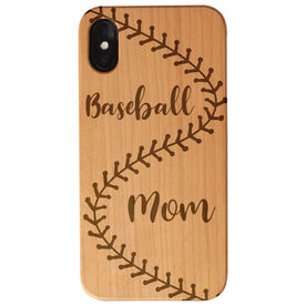 Baseball Engraved Wood IPhone® Case - Baseball Mom