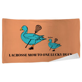 Lacrosse Beach Towel Mom Lucky Ducks