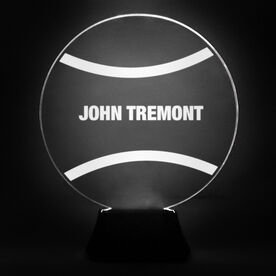 Tennis Acrylic LED Lamp Tennis Ball With Name