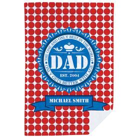 Personalized Premium Blanket - Dad Bottle Cap