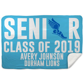 Track & Field Sherpa Fleece Blanket - Personalized Senior Class Of